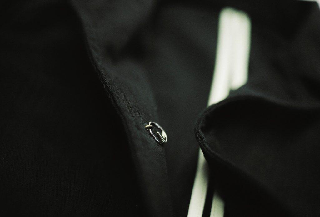 ミリタリーテーラードのチェンジボタン